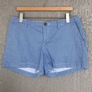 Old Navy, white & blue gingham check shorts